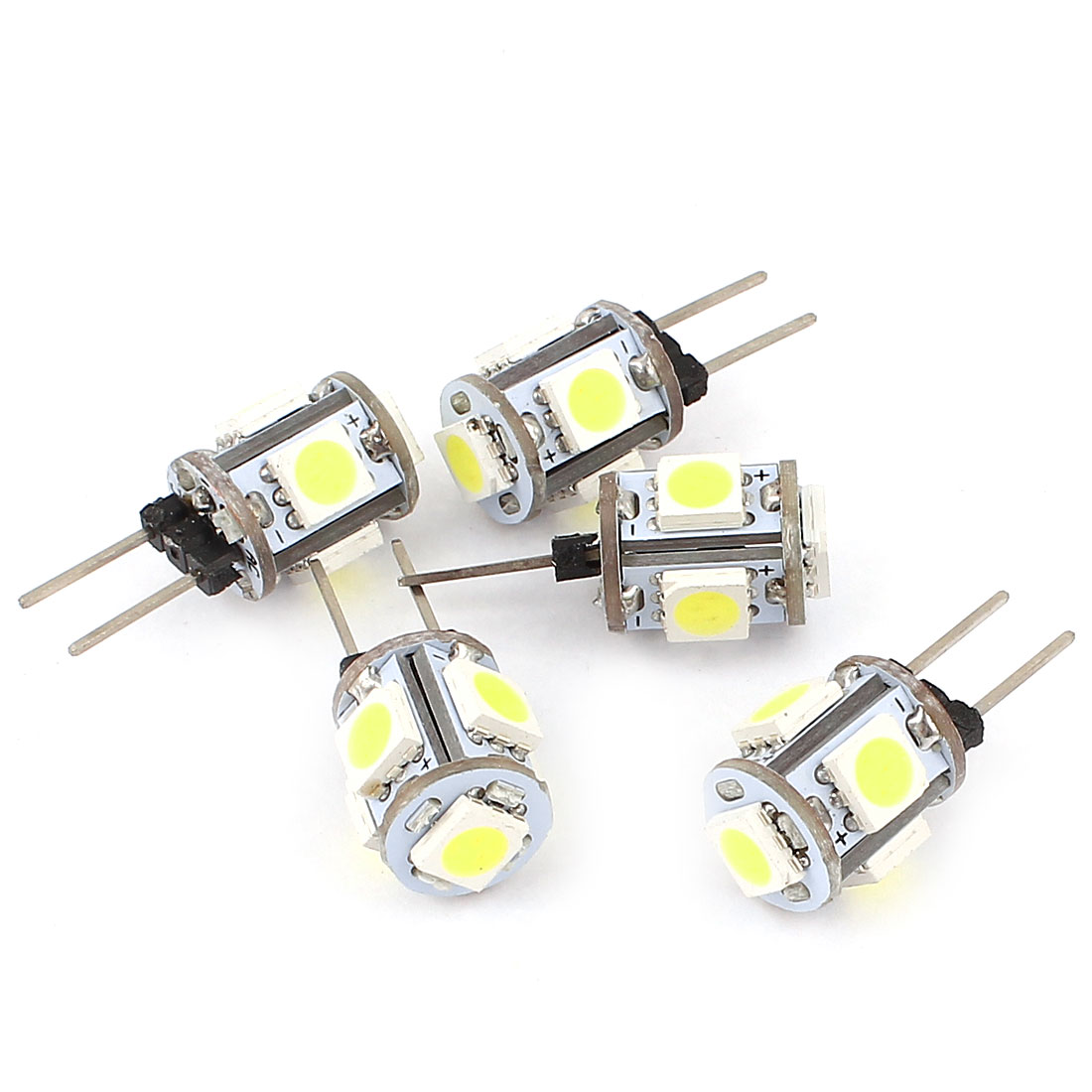 5 x 60-80LM 360 Degree G4 5050 SMD 5 LED Light Bulb Lamp White