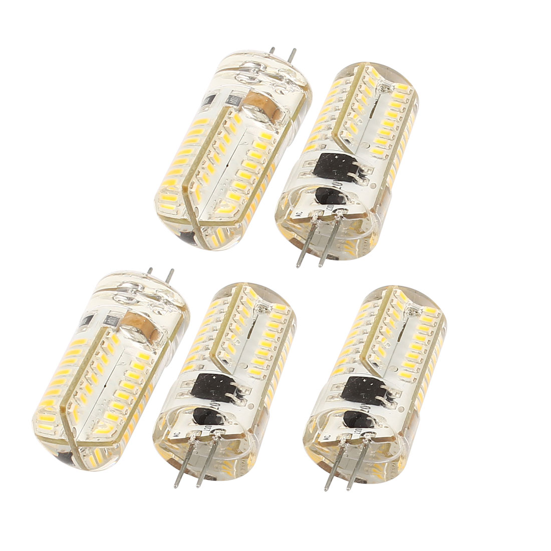 5 Pcs Energy Saving G4 Base 3014 SMD 3W 64 LED Bulb Lamp Light Warm White