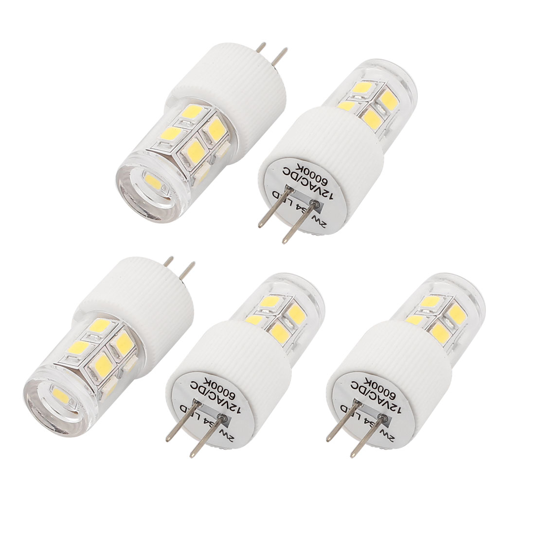 5 Pcs 240-260LM Energy Saving G4 2W 13 2835 LED Bulb Lamp Light White