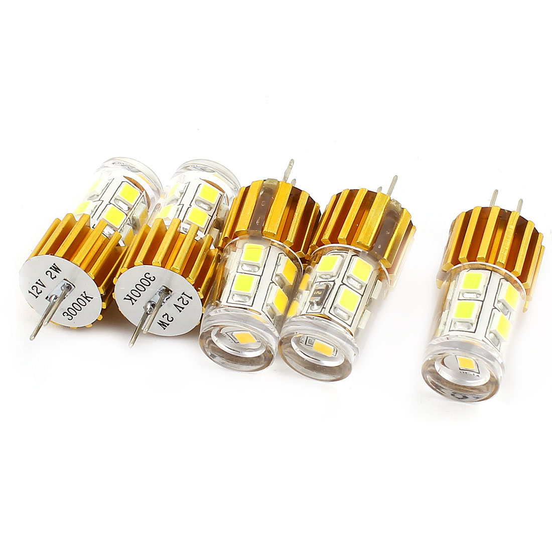 5PCS 180LM G4 Base 2W 2835 SMD 12 LED Bulb Light Warm White AC/DC 12V