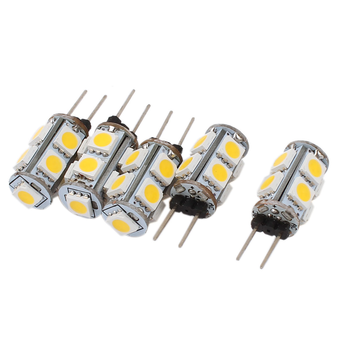 5pcs 55-60LM Energy Saving G4 5050 SMD 9 LED Light Bulb Lamp Warm White