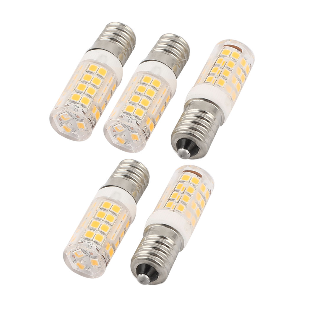 5 Pcs Energy Saving E14 Base 2835 SMD 3.5W 51 LED Bulb Lamp Light Warm White