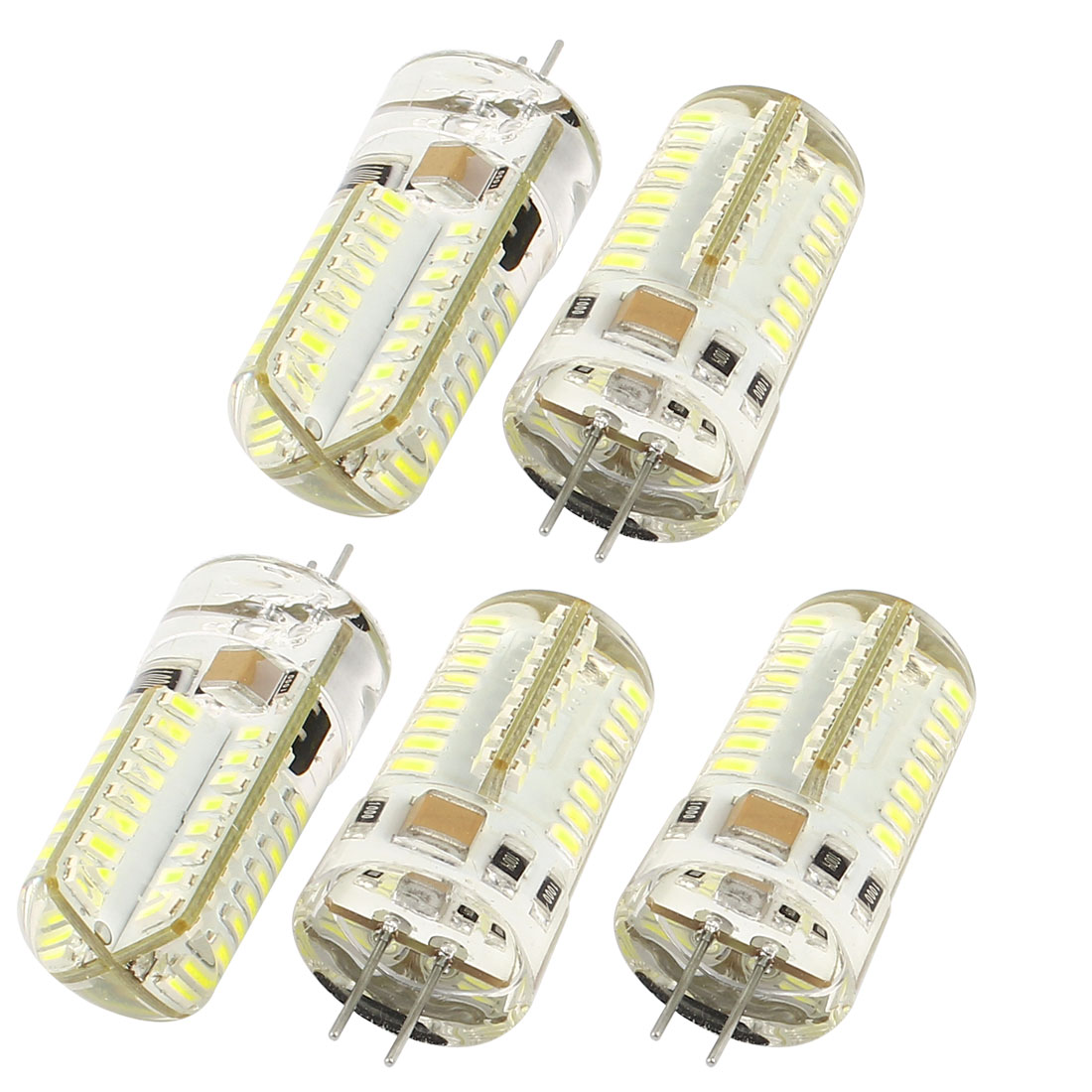 5 Pcs Energy Saving 180LM G4 3014 SMD 3W 64 LED Bulb Lamp Corn Light White