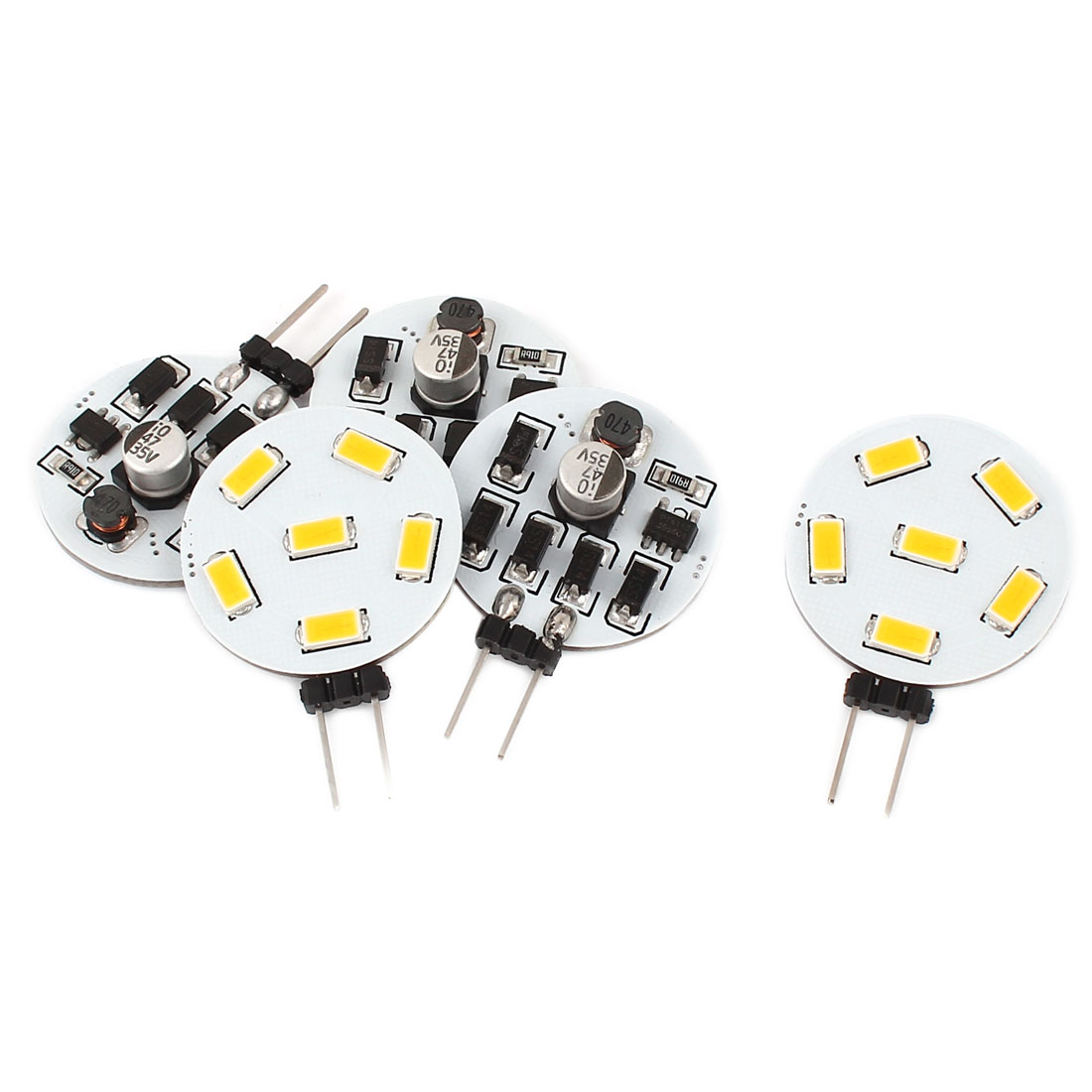 5 x 120 Degree G4 5730 SMD 6 LED Cabinet Marine Boat Light Bulb Lamp Warm White