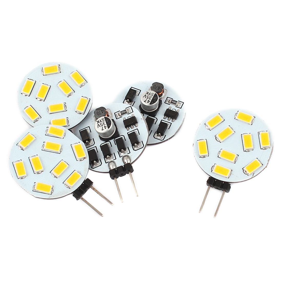 5 x 120 Degree G4 5730 SMD 9 LED Cabinet Marine Boat Light Bulb Lamp Warm White