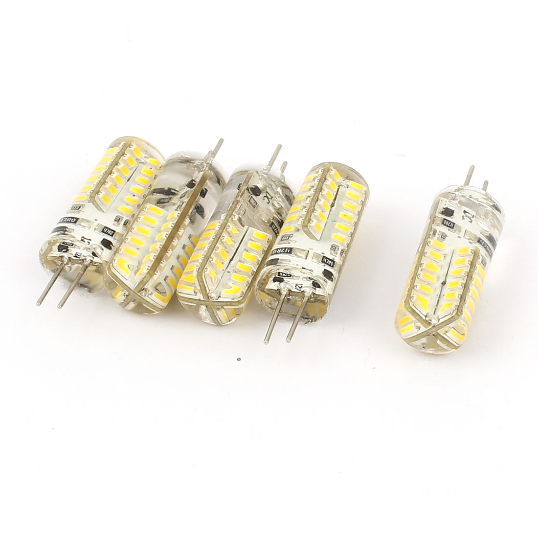 5 Pcs Energy Saving 150-170LM G4 3014 SMD 2.5W 48 LED Bulb Lamp Light Warm White