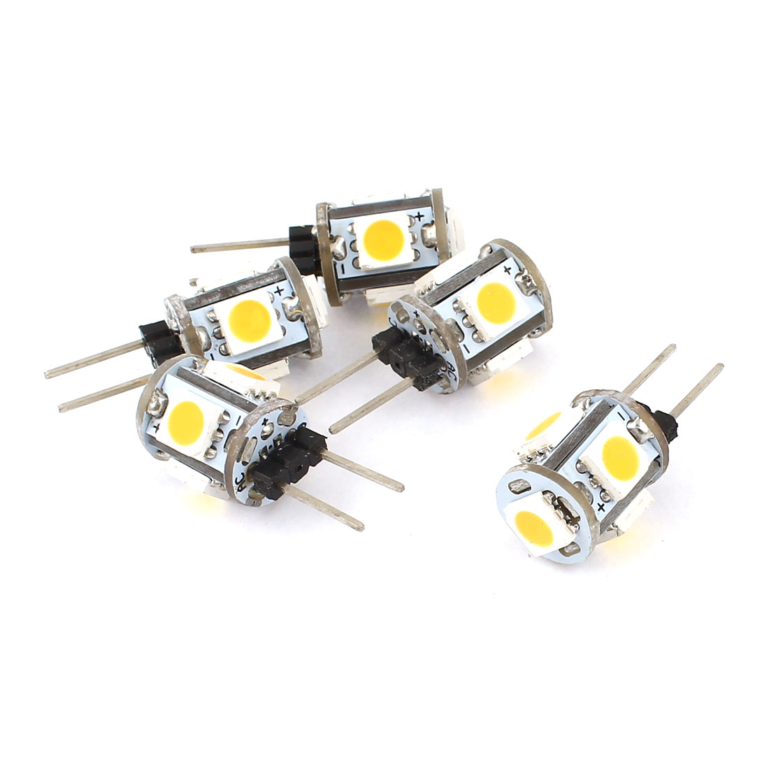 5 x 60-80LM Energy Saving G4 5050 SMD 5 LED Light Bulb Lamp Warm White