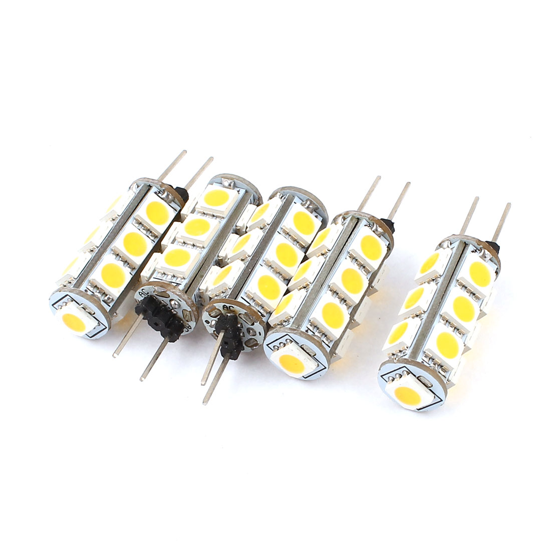 5 x 110-120LM Energy Saving G4 5050 SMD 13 LED Light Bulb Lamp Warm White