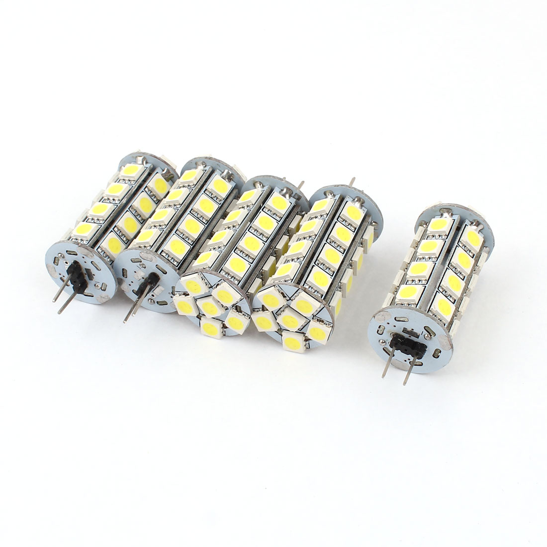 5 x 420-440LM G4 5050 SMD 30 LED Cabinet Marine Boat Light Bulb Lamp White