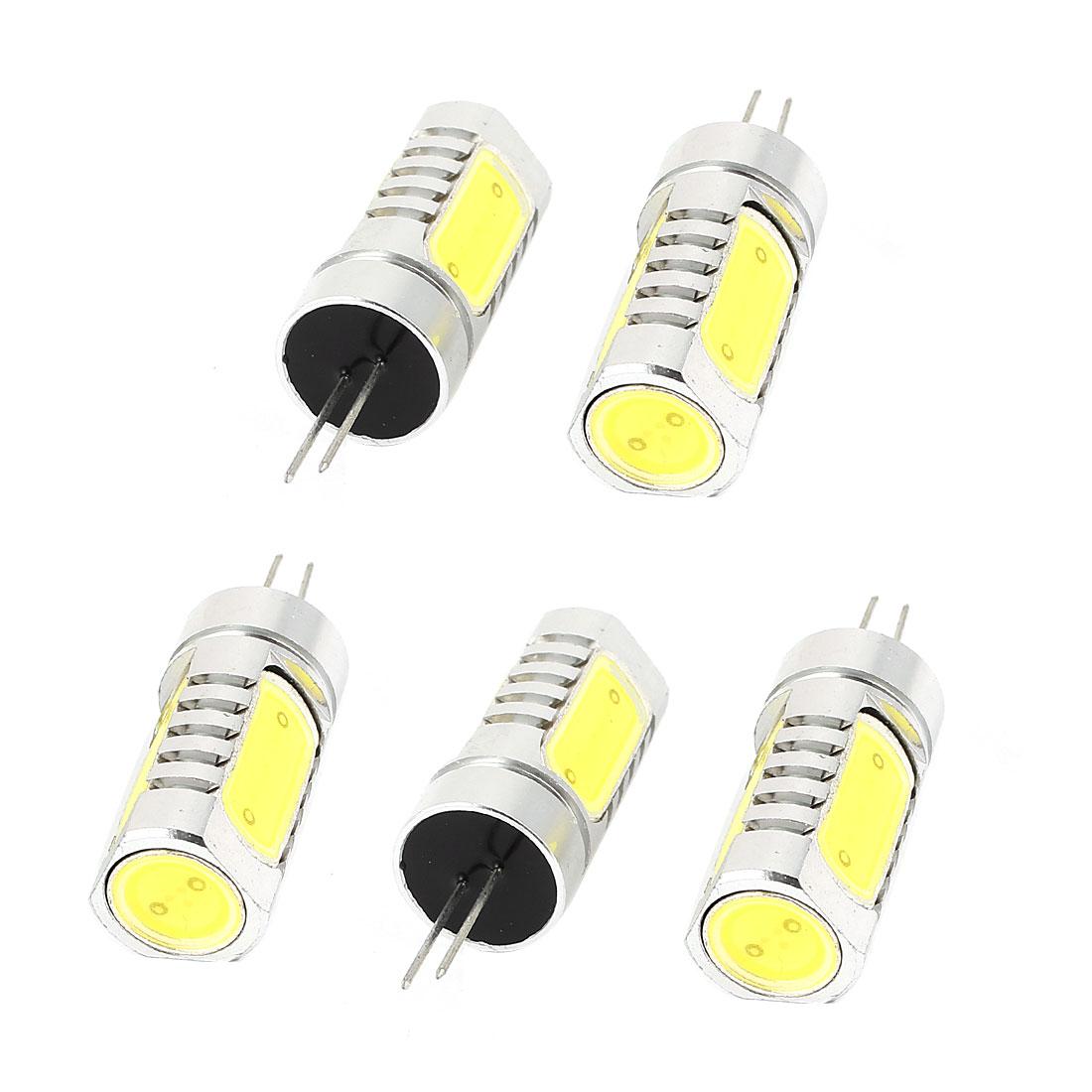 5 Pcs Energy Saving G4 6D 6W 4 LED Bulb Lamp Light White