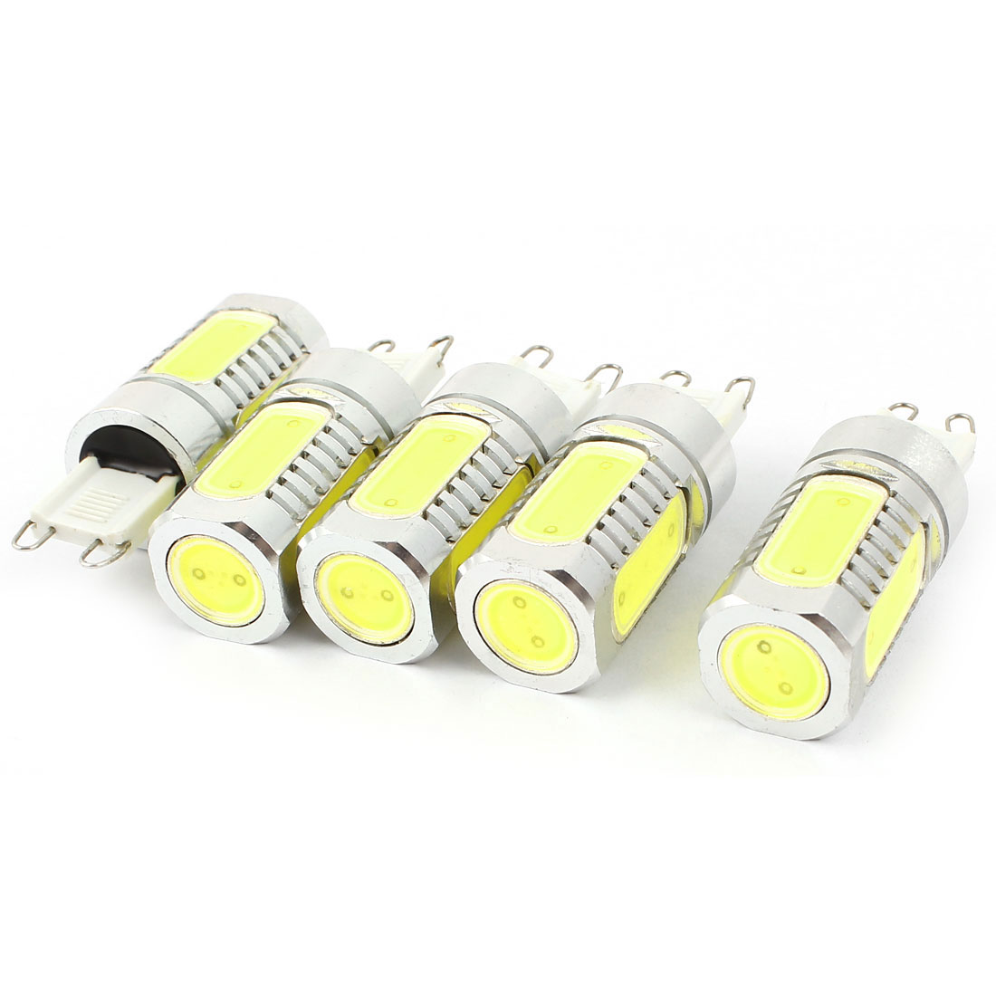 5 Pcs Energy Saving G9 6D 7.5W 5 COB LED Bulb Lamp Light White DC12V