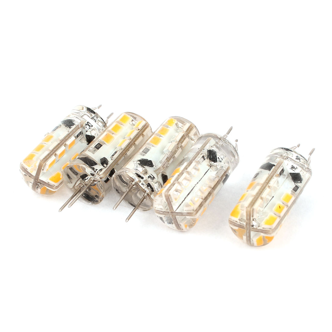 5 x Energy Saving G4 2.5W SMD 24 LED Bulb Light Lamp Warm White DC 12V
