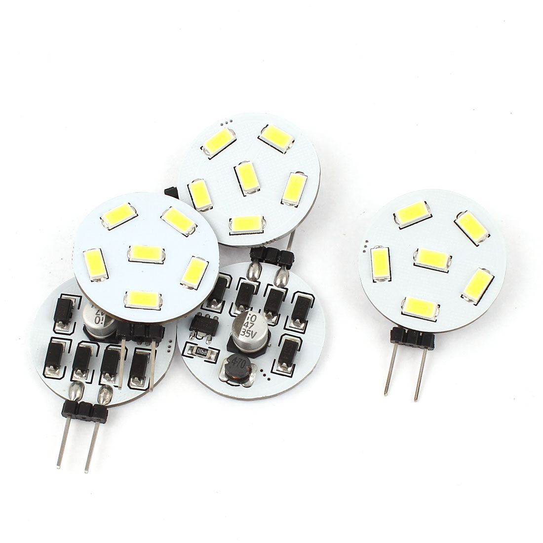 5PCS 230LM G4 5730 SMD 6 LED Cabinet Marine Boat Light Bulb Lamp White