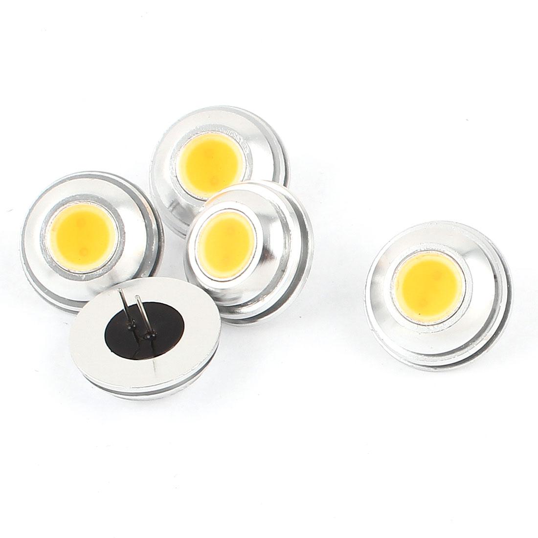 5 Pcs Energy Saving G4 5D 2W LED Bulb Lamp Light Warm White