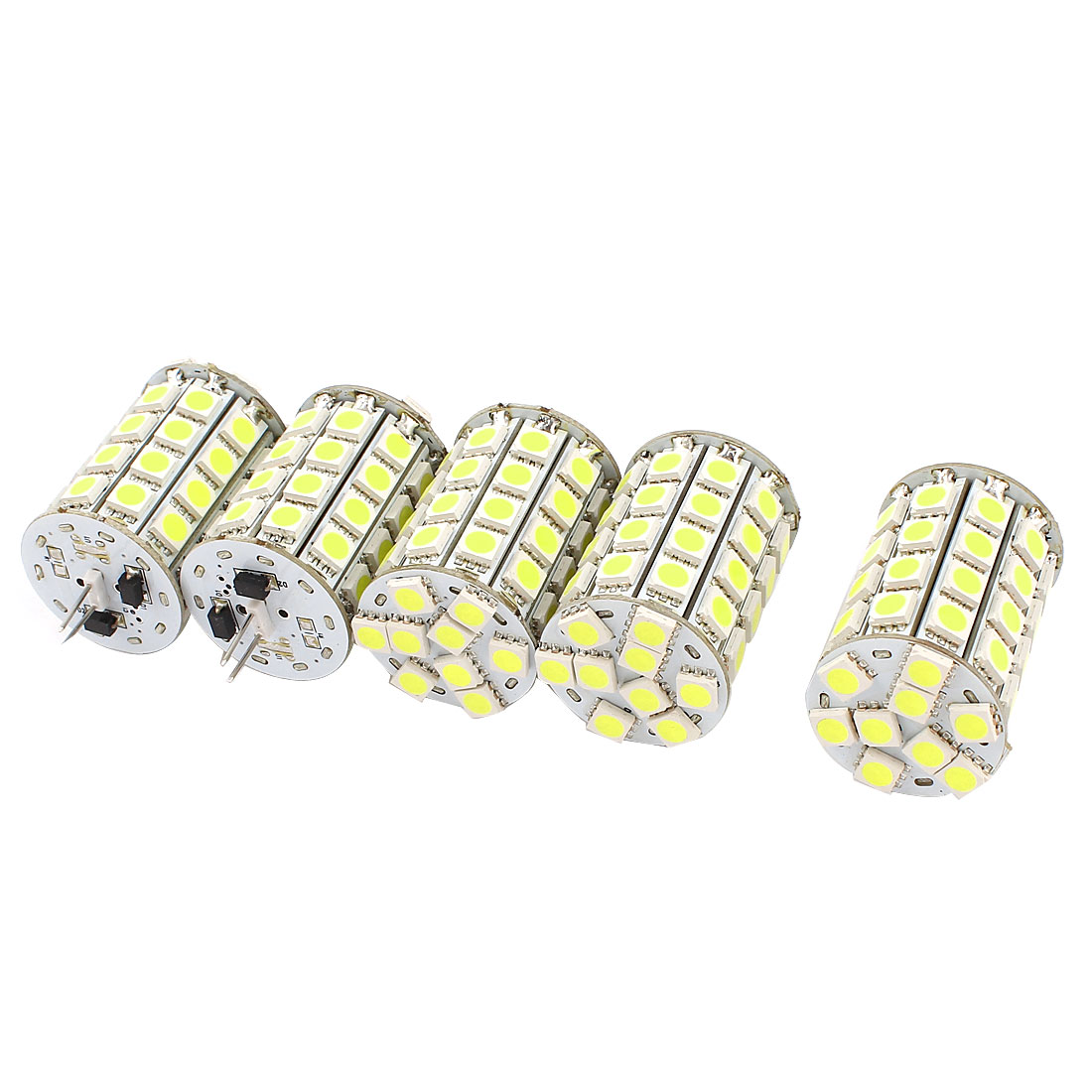 5 x 400-420LM Energy Saving G4 5050 SMD 49 LED Light Bulb Lamp White