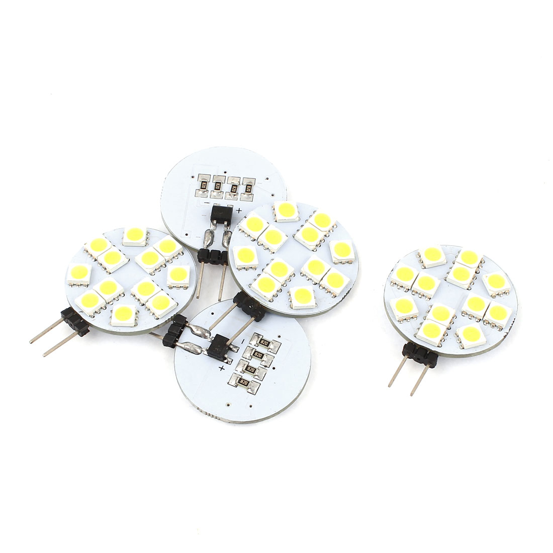 5 x G4 5050 SMD 12 LED Camper RV Cabinet Marine Boat Light Bulb Lamp White