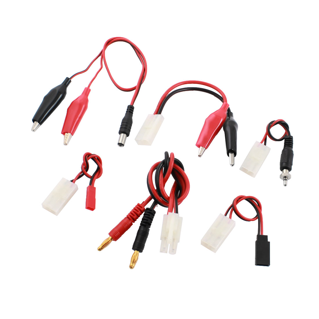 6 in 1 Female to Banana Wire Cable Connector for RC Model Lipo Battery