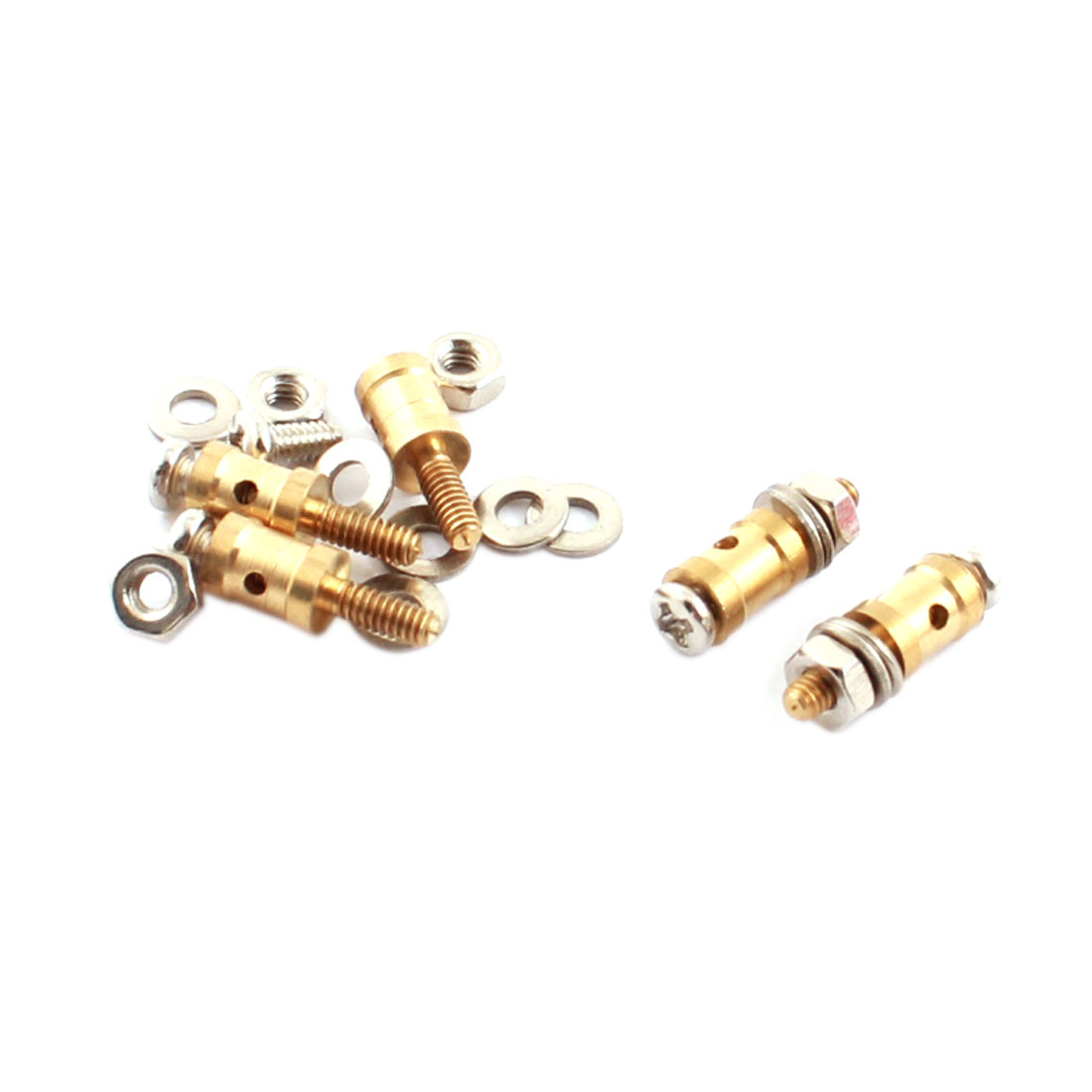RC Model 2.1mm Thread to 1.1mm Dia Cable Rod Connector Joint 5pcs