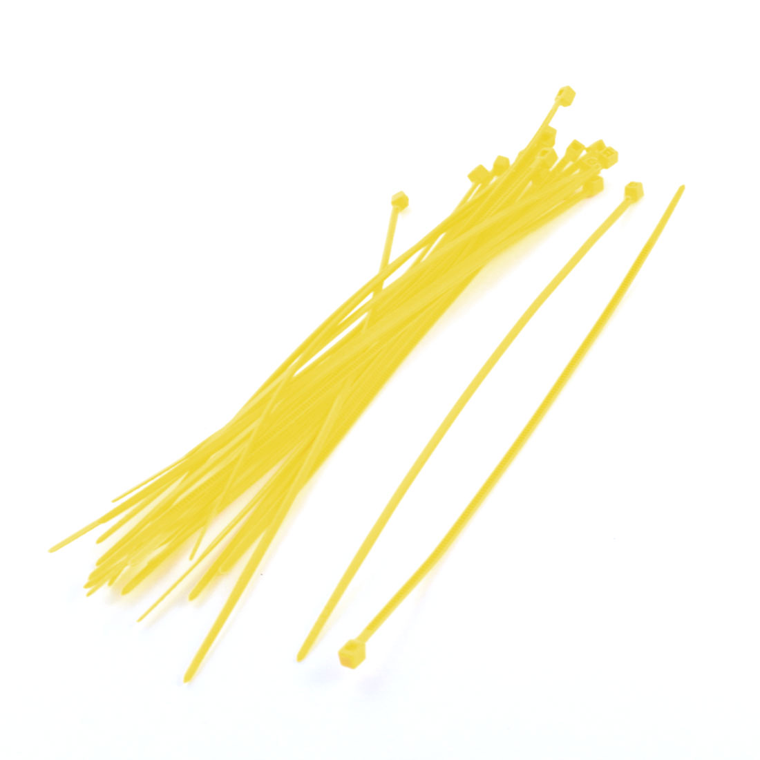 20Pcs 2mm Wide 150mm Length Nylon Cable Zip Ties Wire Cord Strap Yellow