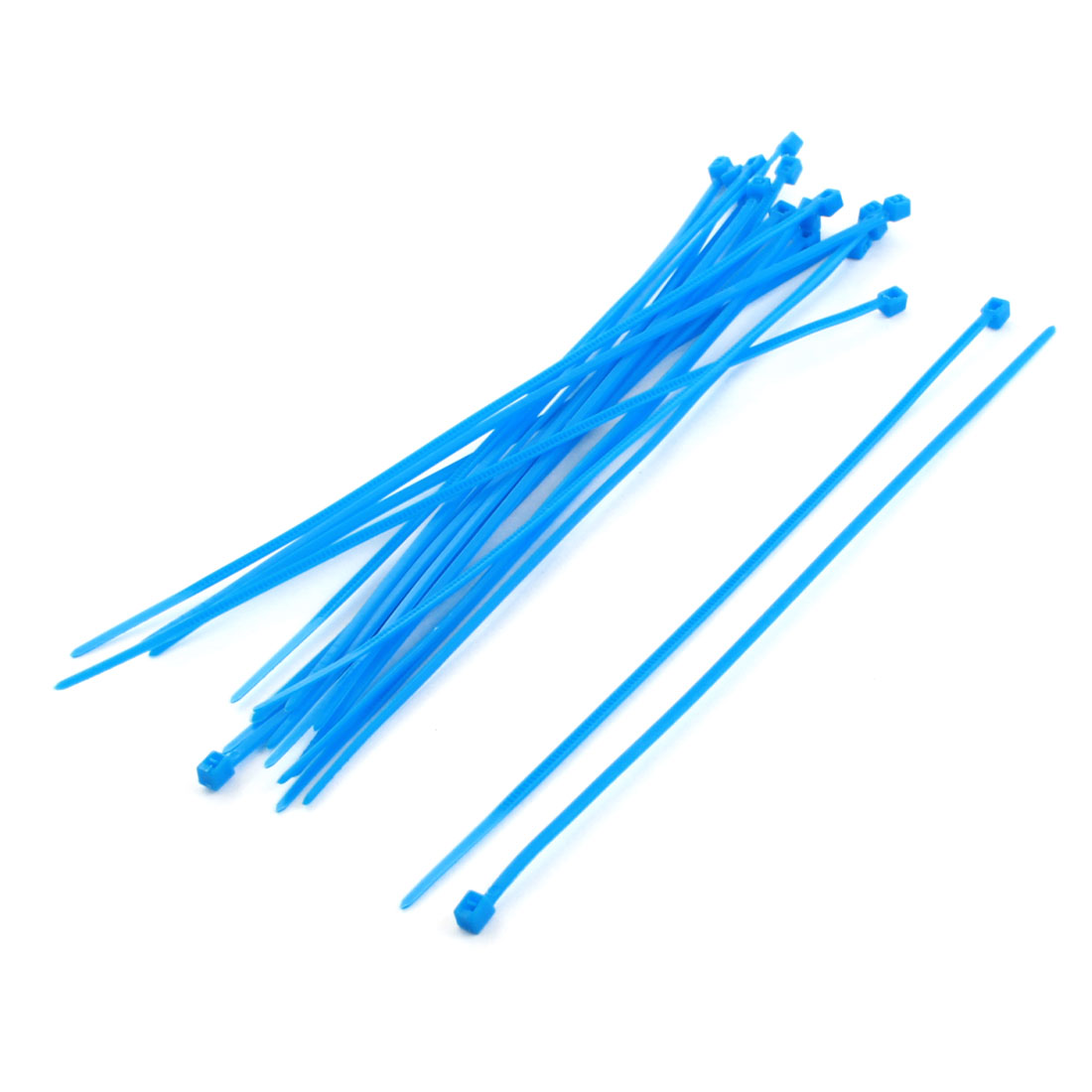 20Pcs 2mm Wide 150mm Length Nylon Cable Zip Ties Wire Cord Strap Blue