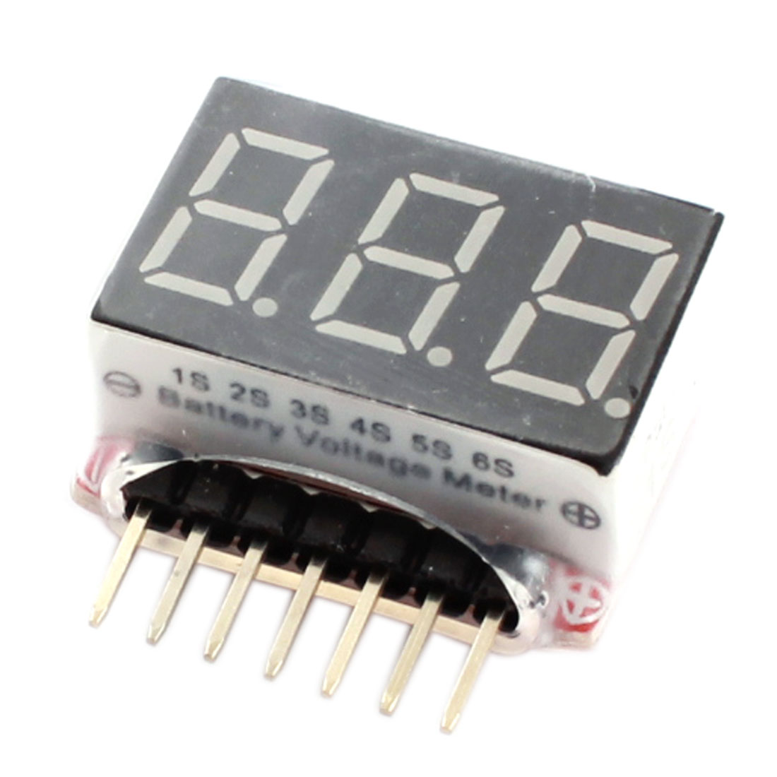 RC Model LED Display 1S-6S Cells Lipo Battery Voltage Indicator Monitor Meter