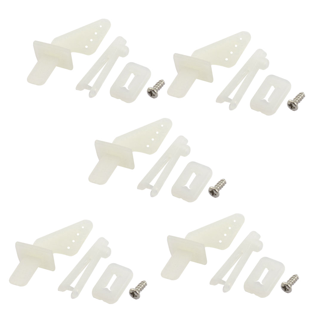 RC Model Aircraft White Nylon Rudder Angle Quick Adjust Rocker 5Set