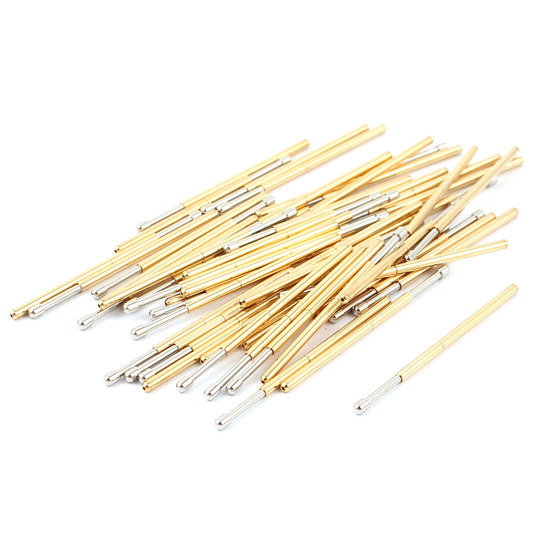 50 Pcs P100-D2 1.5mm Spherical Tip Spring Testing Probes Pin 33.3mm Length
