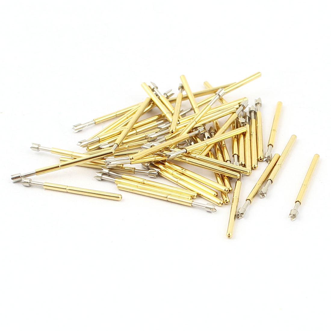 50 Pcs P75-Q2 1.3mm 4-Point Crown Tip Spring Testing Probes Pin