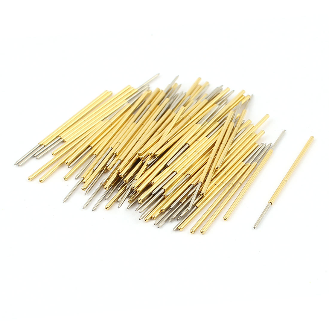 100 Pcs PL75-F 0.74mm Tip Spring Testing Probes Pin 33.5mm Length