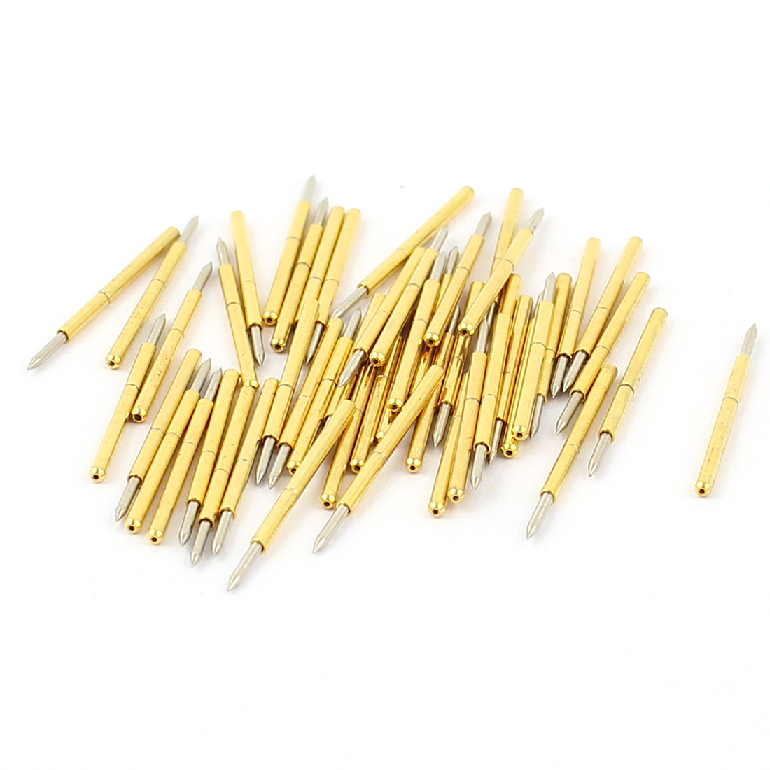 50 Pcs P75-B1 0.74mm Spear Tip Spring Testing Probes Pin 16mm Length