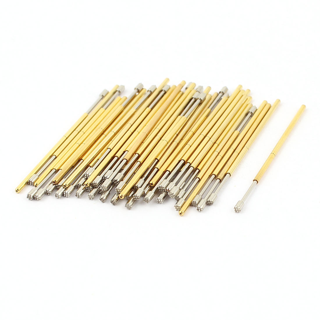 50 Pcs PL75-H 1.3mm 9-Point Crown Tip Spring Testing Probes Pin