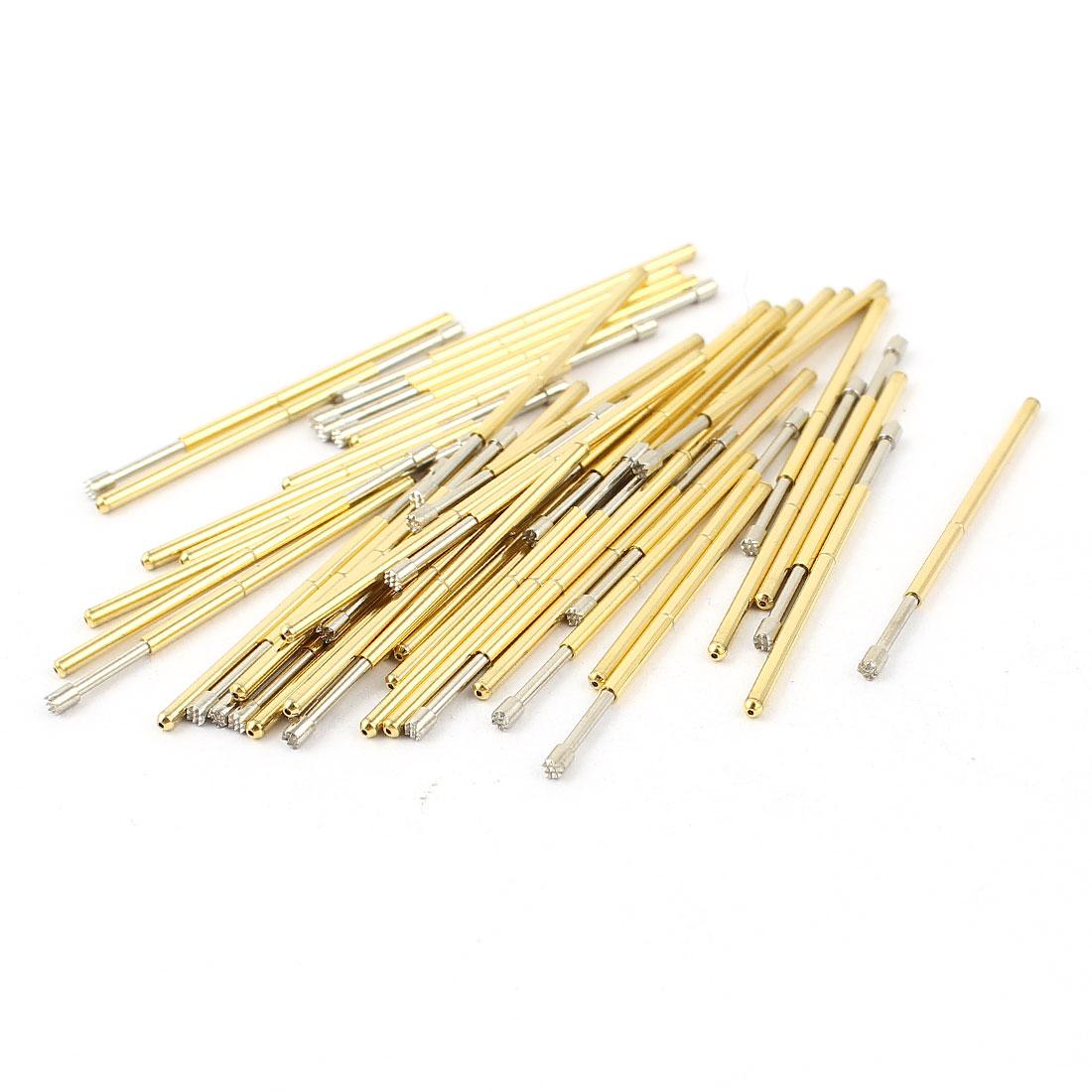 50 Pcs P100-H2 1.5mm 9-Point Crown Tip Spring Testing Probes Pin