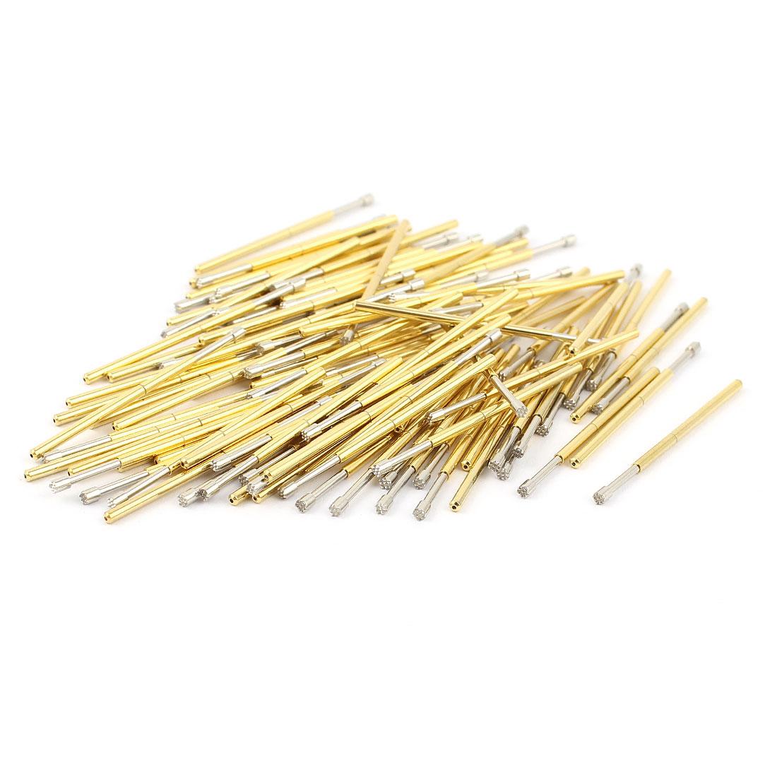 100 Pcs P100-H2 1.5mm 9-Point Crown Tip Spring Testing Probes Pin