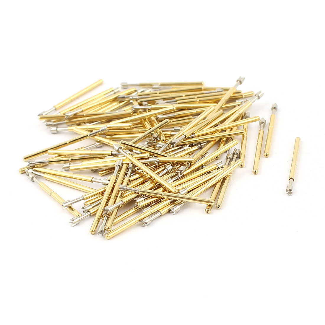 100 Pcs P75-Q2 1.3mm 4-Point Crown Tip Spring Testing Probes Pin