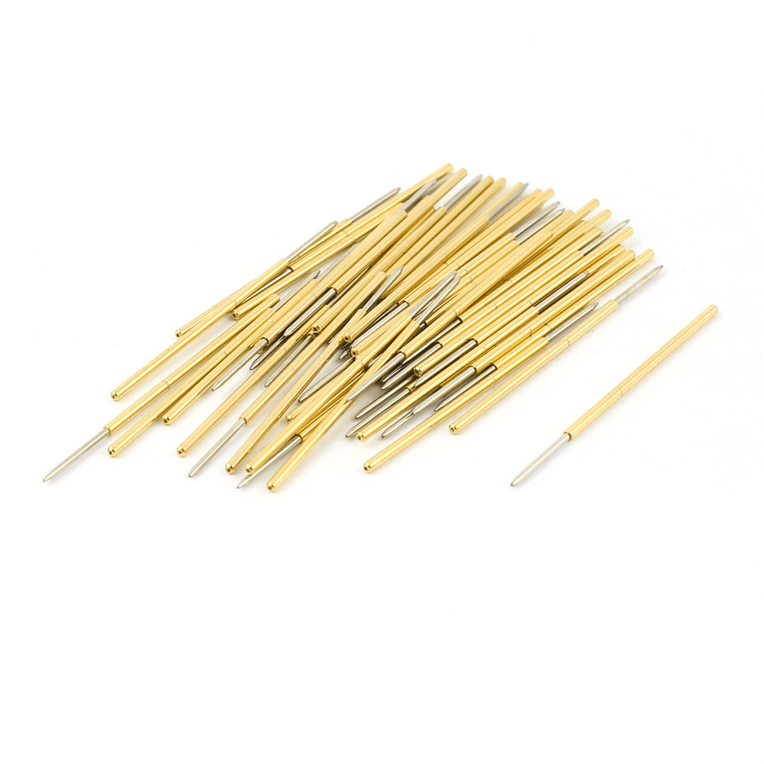 50 Pcs PL75-F 0.74mm Dia Tip Spring Testing Probes Pin 33.5mm Length
