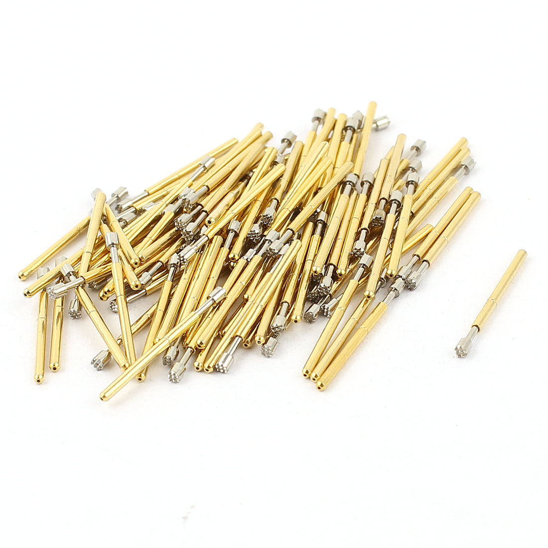100 Pcs P75-H2 1.3mm 9-Point Crown Tip Spring Testing Probes Pin