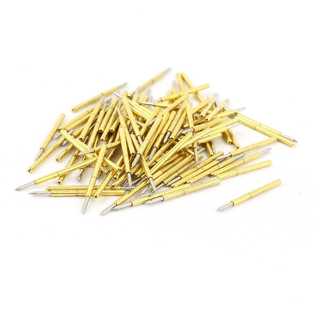 100 Pcs P75-B1 0.74mm Spear Tip Spring Testing Probes Pin 16mm Length