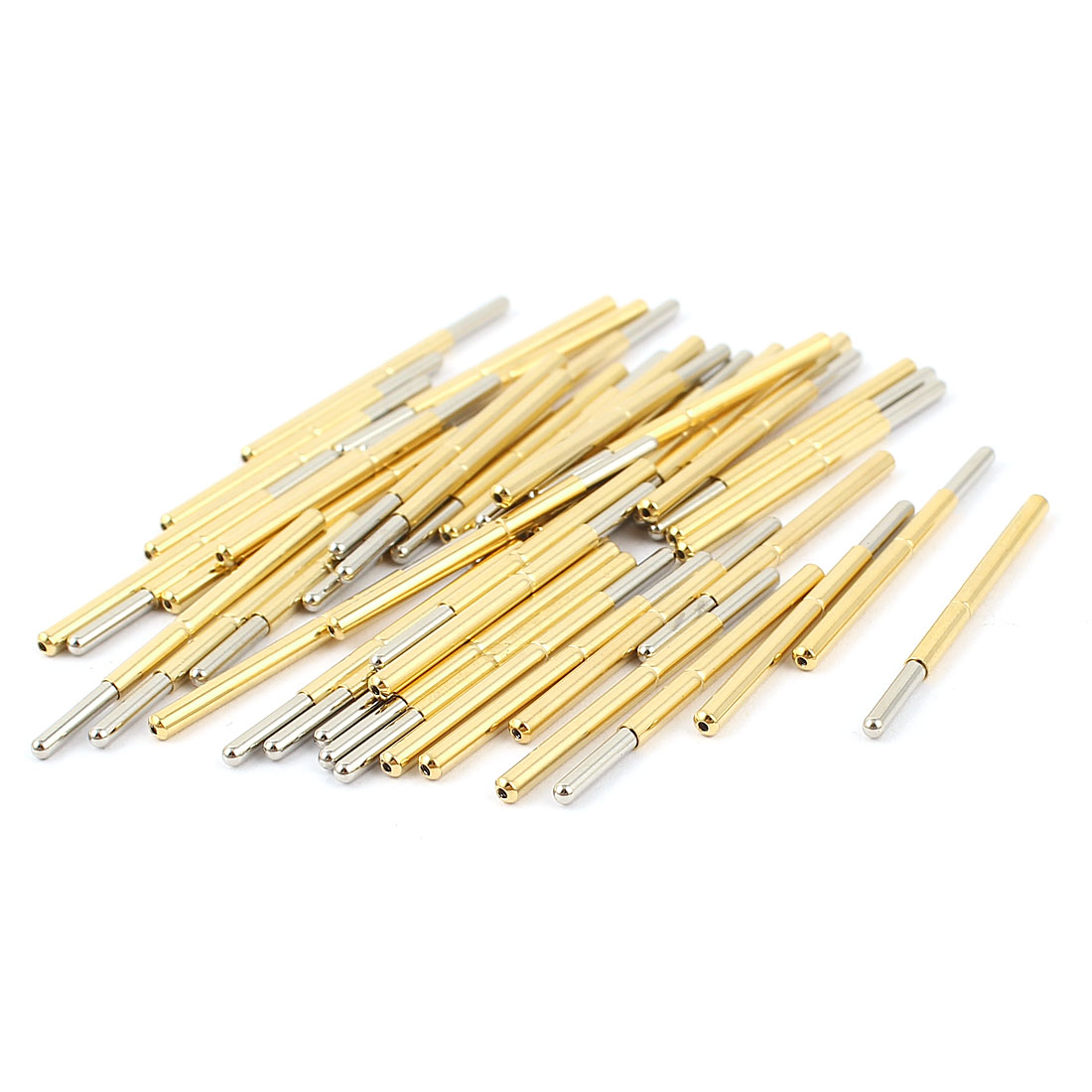 50 Pcs P125-J 1.7mm Spherical Tip Spring Testing Probes Pin 33.3mm Length