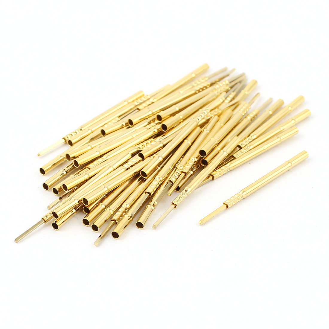 50 Pcs R160-3W 1.67mm Dia Testing Probe Pin Receptacles Gold Tone