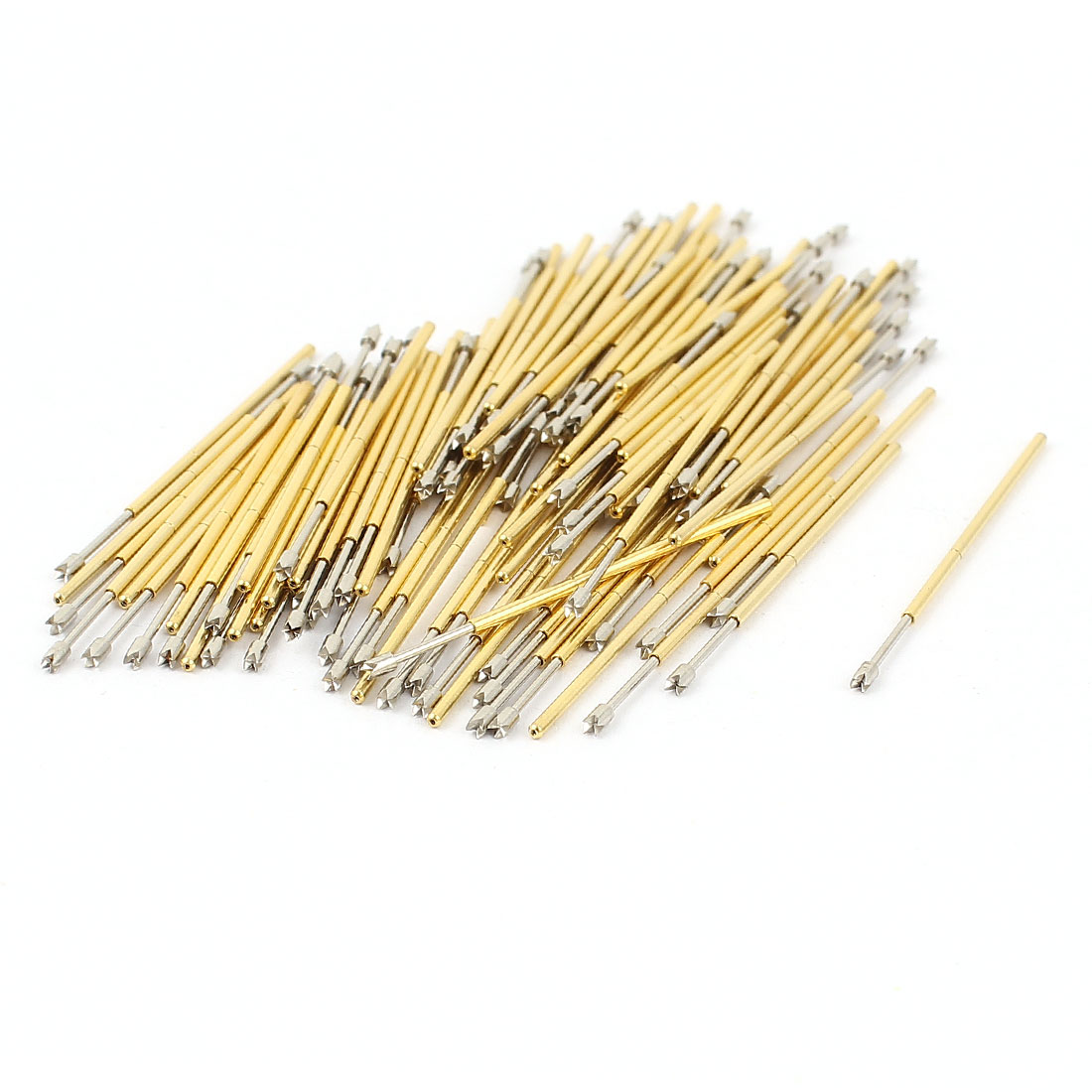 100 Pcs PL75-Q2 1.3mm 4-Point Crown Tip Spring Testing Probes Pin
