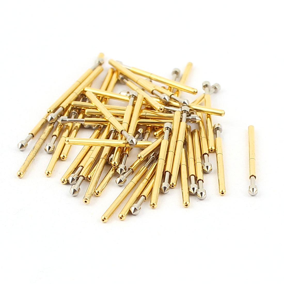 50 Pcs P75-E2 1.3mm Convex Tip Spring Testing Probes Pin 16.5mm Length