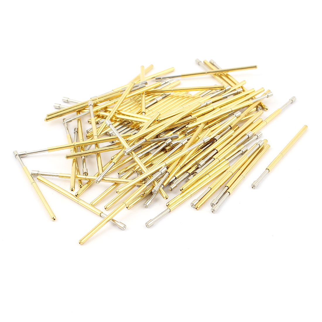 100 Pcs P100-A2 1.5mm Concave Tip Spring Testing Probes Pin 33.3mm Length