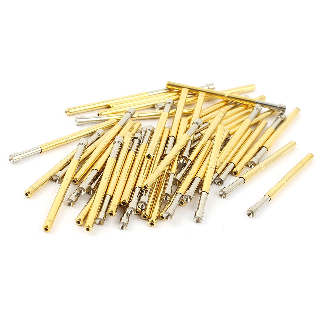 50 Pcs P125-A2 2.5mm Concave Tip Spring Testing Probes Pin 33.35mm Length
