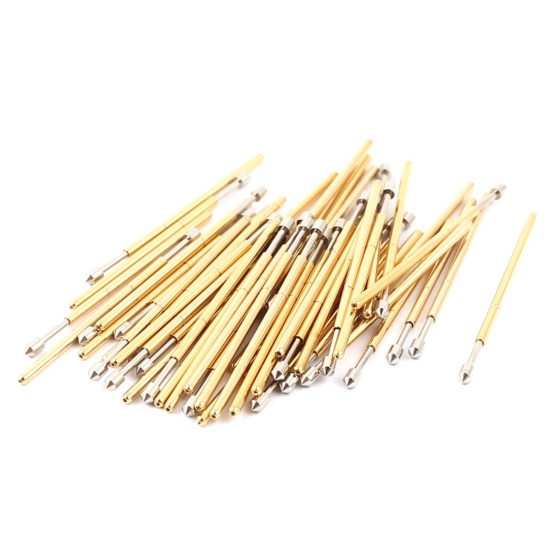 50 Pcs PM75-E 1.3mm Convex Tip Spring Testing Probes Pin 27.8mm Length