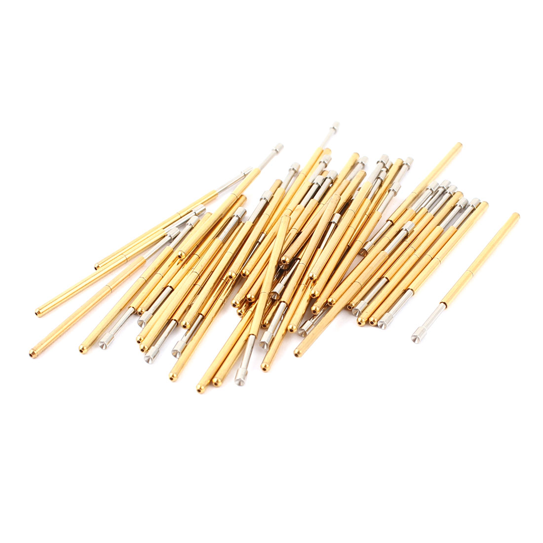 50 Pcs P100-A2 1.5mm Concave Tip Spring Testing Probes Pin 33.3 Length