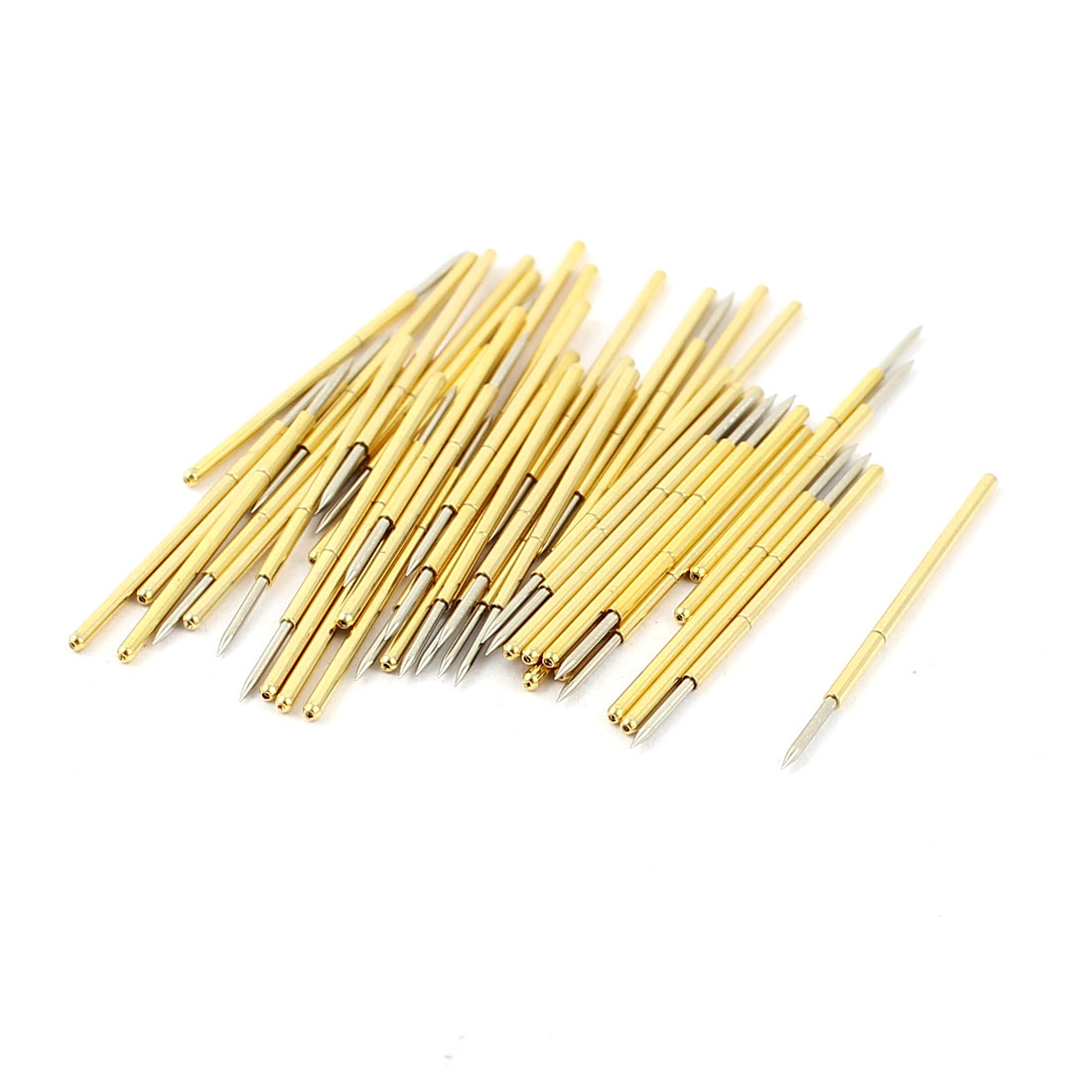 50 Pcs PM75-B1 0.74mm Spear Tip Spring Testing Probes Pin 27.8mm Length