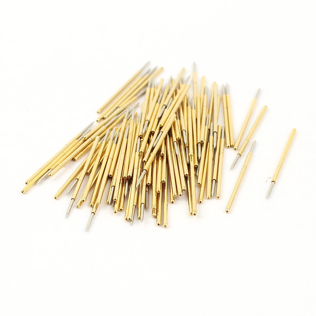 100 Pcs PM75-B1 0.74mm Spear Tip Spring Testing Probes Pin 27.8mm Length