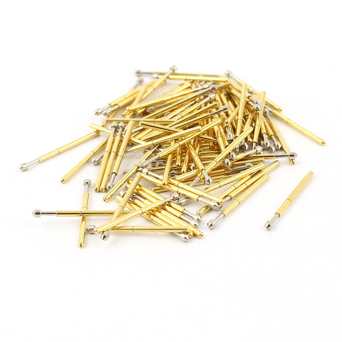 100 Pcs P75-E2 1.3mm Convex Tip Spring Testing Probes Pin 16.5mm Length