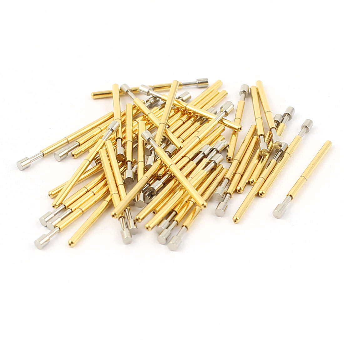 50 Pcs P75-G 1.3mm Flat Tip 16.5mm Length Spring Testing Probes Pin