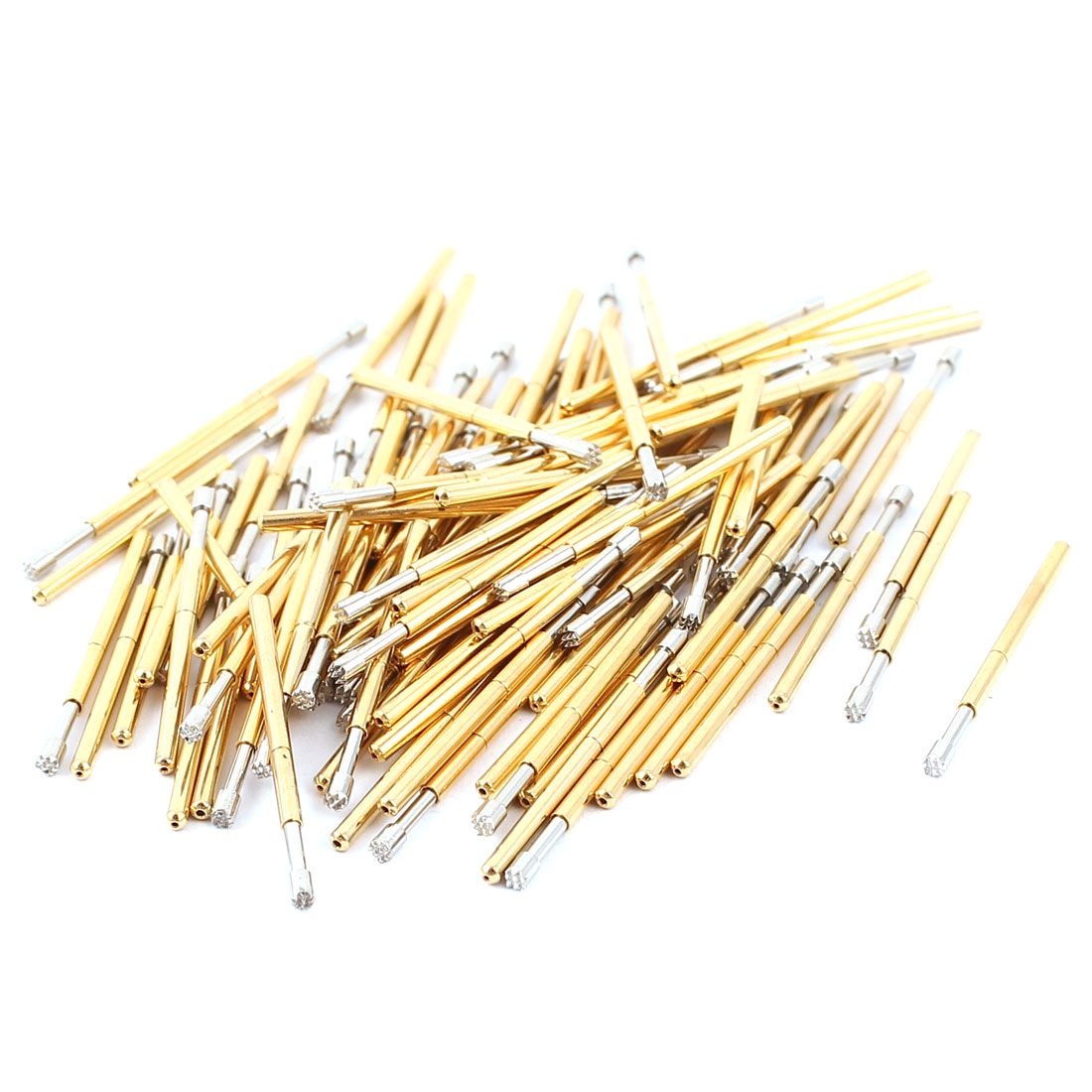 100 Pcs P160-H2 1.5mm 9-Point Crown Tip Spring Testing Probes Pin